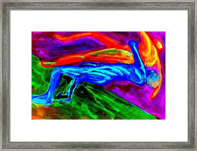 I Can Lift You And Throw You In The Bin  Framed Print