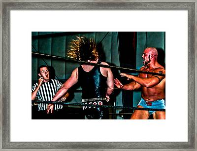 Wrestling Framed Print by Brett Kurtz