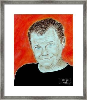 Wrestling Legend Jerry The King Lawler Framed Print by Jim Fitzpatrick