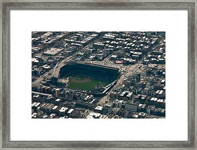 Wrigley Field From The Air Framed Print