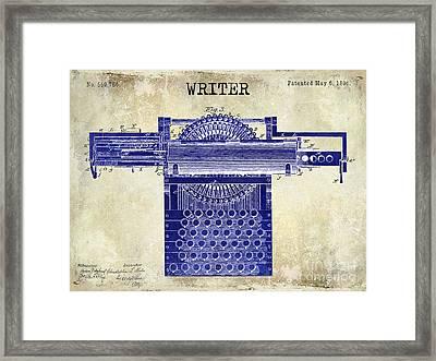 Writer Framed Print by Jon Neidert