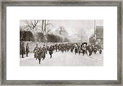 Wwi American Troops Framed Print by Granger