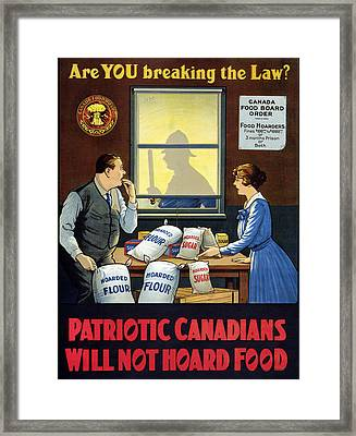 Wwi Food Supply, C1915 Framed Print by Granger