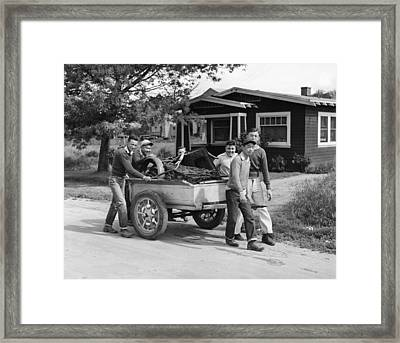 Wwii Homefront, 1942 Framed Print by Granger