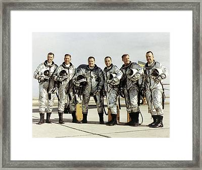 X-15 Aircraft Test Pilots Framed Print by Nasa