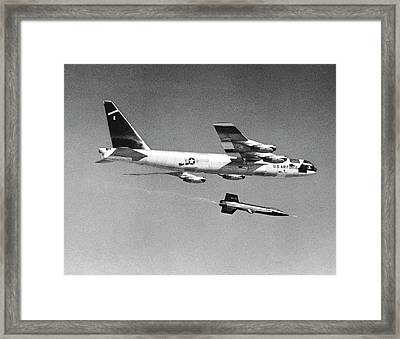 X-15 Launch From A Boeing B-52 Framed Print by Nasa