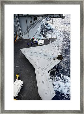 X-47b Unmanned Combat Air Vehicle Framed Print by Us Air Force