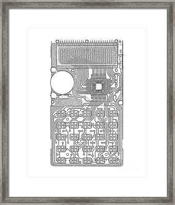 X-ray Of Calculator Framed Print by Bert Myers