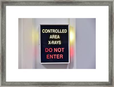 X-ray Room Warning Box Framed Print