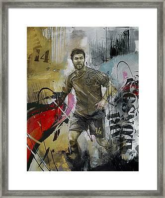 Xabi Alonso - C Framed Print by Corporate Art Task Force