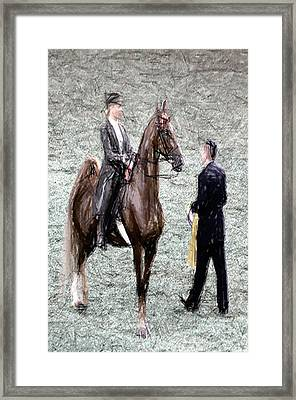 Xivg - World Championship Horse Show - Louisville Ky Framed Print by Thia Stover