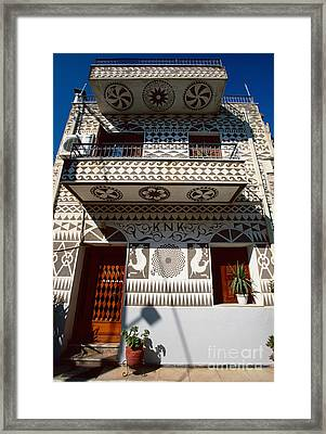 Xysta House Framed Print by Aiolos Greek Collections