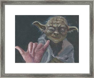 Y Is For Yoda Framed Print