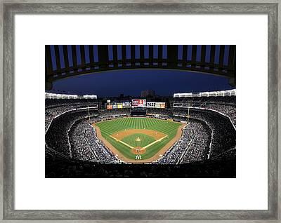 Yankee Stadium 2 Framed Print by Allen Beatty
