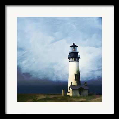Seascape. Headland Framed Prints