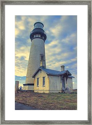 Yaquina Head Lighthouse Framed Print by Cathy Anderson