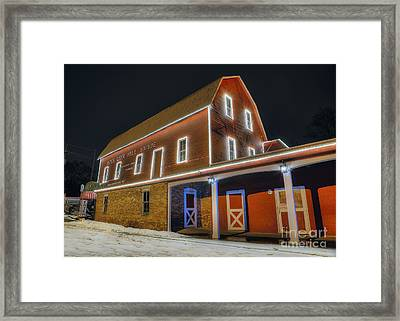 Yates Cider Mill At Christmas Framed Print by Twenty Two North Photography