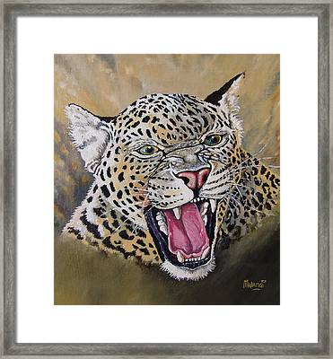 Framed Print featuring the painting Yawn by Anthony Mwangi