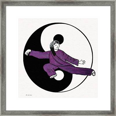 Year Of The Snake Framed Print by Barbara McMahon