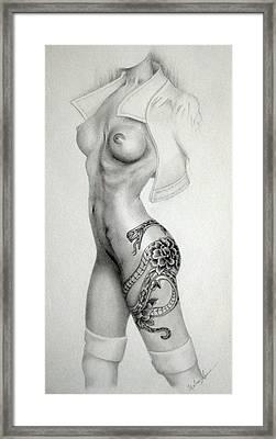 Year Of The Snake  Framed Print by Melanie Spencer