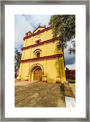 Yellow And Red Church Framed Print by Jess Kraft