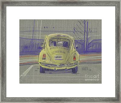 Yellow Beetle Framed Print by Donald Maier