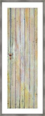 Yellow Door Framed Print by Asha Carolyn Young