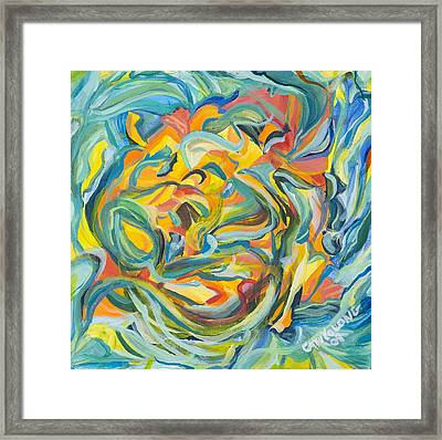 Framed Print featuring the painting Yellow Pepper Woman by Cathy Long