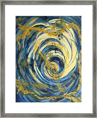 Yellow Spiral Framed Print by Christiane Schulze Art And Photography