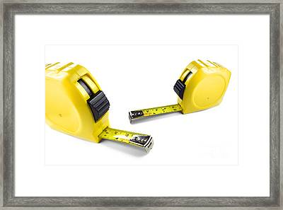 Yellow Tape Measures Framed Print