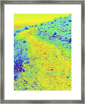 Yellow Zen Road Framed Print