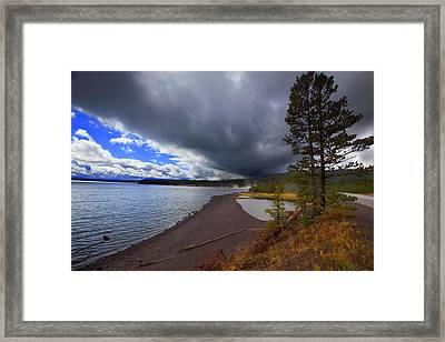 Framed Print featuring the photograph Yellowstone Park by Richard Wiggins