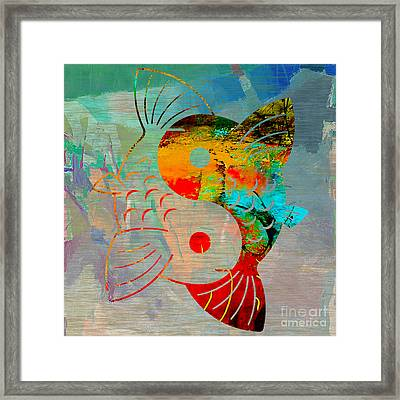 Yin Yang Koi Framed Print