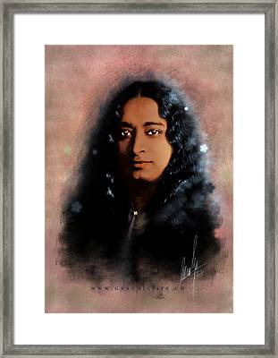 Yogananda Framed Print by Graphicsite Luzern
