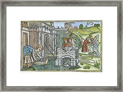 Yohevet Hiding Moses Framed Print by Granger
