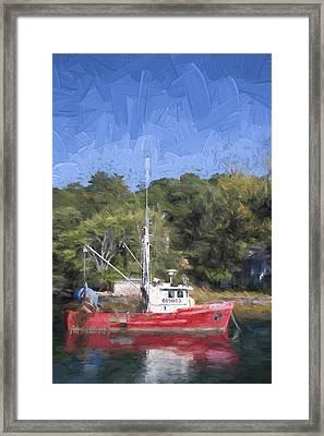 York Harbor Maine Painterly Effect Framed Print