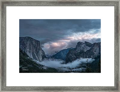 Yosemite In Clouds Framed Print