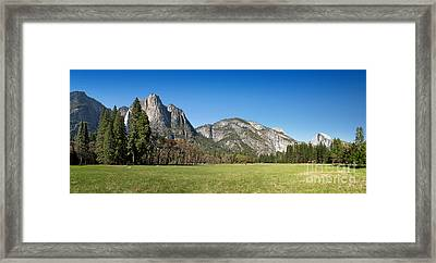 Yosemite Meadow Panorama Framed Print by Jane Rix