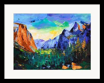 El Capitan Paintings Framed Prints
