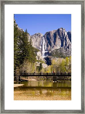 Yosemite Water Fall Framed Print