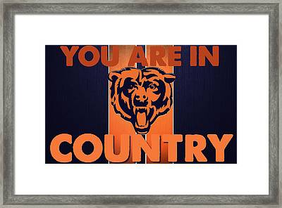 You Are In Bears Country Framed Print by Celestial Images