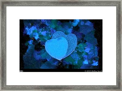 You Changed My Life Blue Framed Print