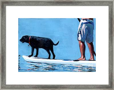 You Me And The Sea Framed Print