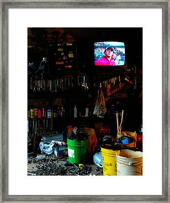 You Talkin' To Me Framed Print by Leon Hollins III