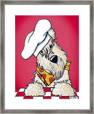 You Wanna Pizza Me? Framed Print by Kim Niles