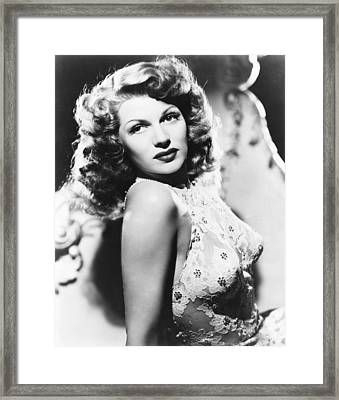 You Were Never Lovelier, Rita Hayworth Framed Print