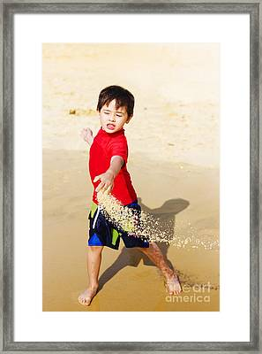 Young Asian Boy On Vacation Framed Print by Jorgo Photography - Wall Art Gallery