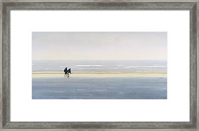 Young Couple Framed Print by Mark Van Crombrugge