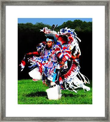 Young Fancy Dancer Framed Print by Terril Heilman