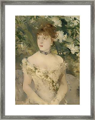 Young Girl In A Ball Gown Framed Print